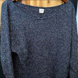 Cropped Boatneck Roll-Up Sleeve Sweater
